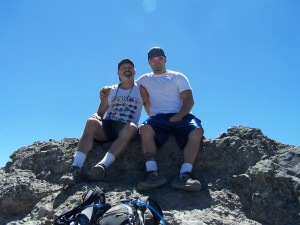 Dr. Powers and Galen Powers top of Castle Craig Peak